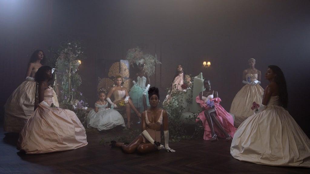 Beyoncé and her team (including Blue Ivy!) wear Schiaparelli.