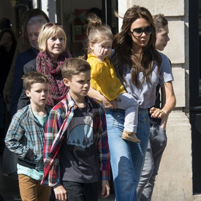 Victoria Beckham and Her Kids Visit a Museum in Paris