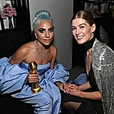 Pictured: Lady Gaga and Rosamund Pike