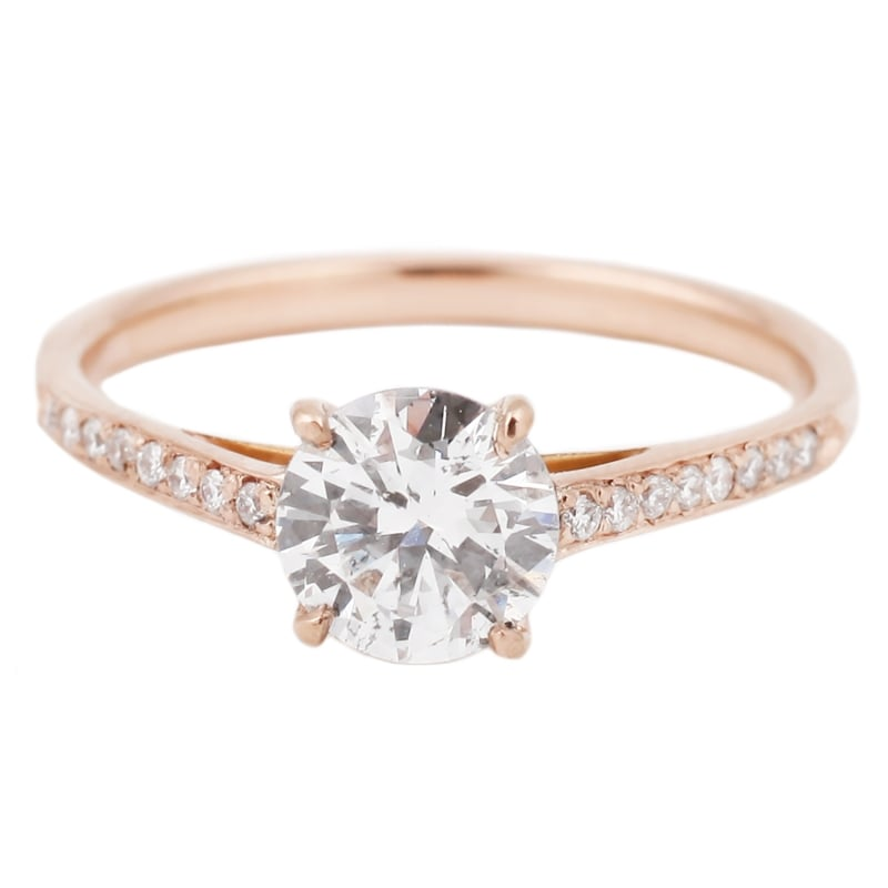 rose gold wedding ring ideas popsugar fashion - Rose Gold Wedding Ring