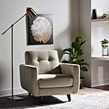 Rivet Sloane Mid-Century Modern Armchair With Tapered Legs