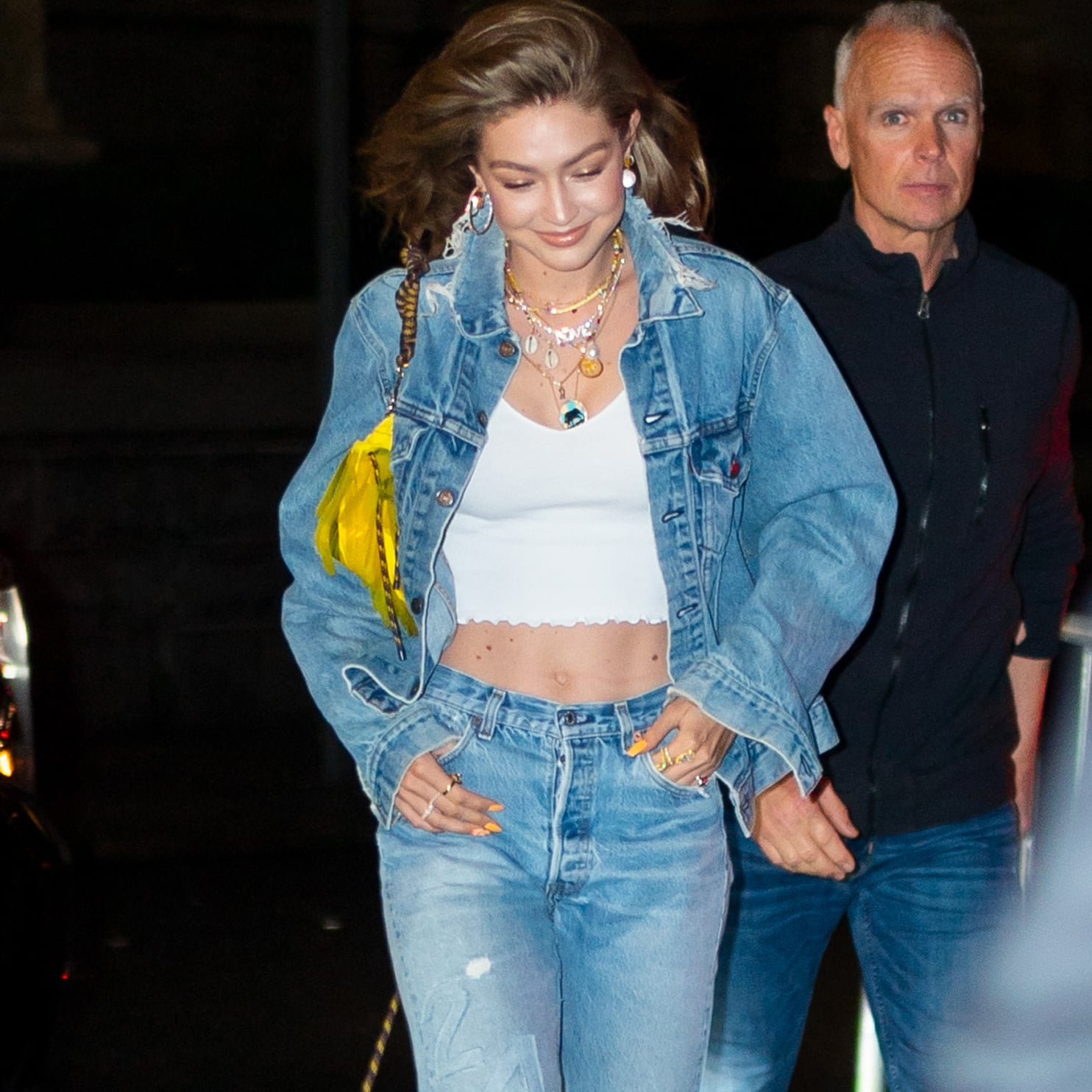 5505bca3 Zara Hi-Rise Z1975 Jeans With Turned-Up Cuffs | Gigi Hadid Jeans With