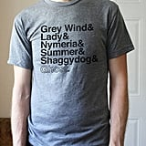 Handmade Game of Thrones Tee Shirts