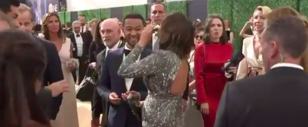 Chrissy Teigen Drinking From a Flask at the 2018 Emmys
