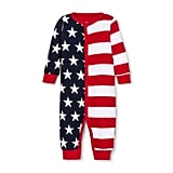 Snooze Button Baby Stars and Stripes Family Pajama Union Suit