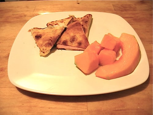 Easy Weeknight Meal: Ham and Cheese Quesadillas