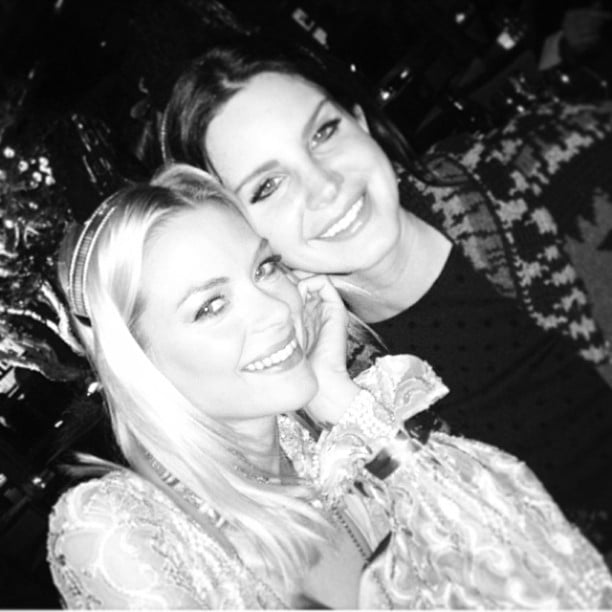 Jaime King posed with Lana Del Rey as the clock struck midnight. Source: Instagram user jaime_king