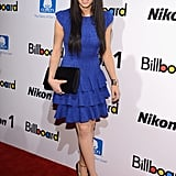 Carly Rae Jepsen hit the red carpet in a blue dress for Billboard's Women in Music event in NYC.