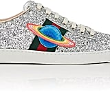 Out of this world! The label's offbeat style takes an  intergalactic turn with these Gucci New Ace Glitter Sneakers ($730).