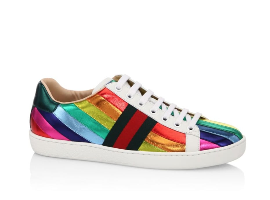 gucci shoes rainbow. gucci new ace metallic rainbow sneakers shoes