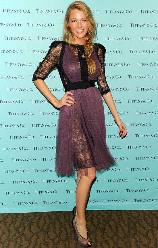 Blake Lively at Tiffany & Co.