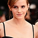 For the premiere of her film The Bling Ring, Emma Watson went for a deeply side-parted updo with natural-looking makeup that emphasized her brows, lashes, and gorgeous skin.
