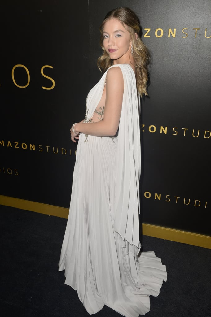 Sydney Sweeney's Sexy White Dress | Golden Globes Afterparty