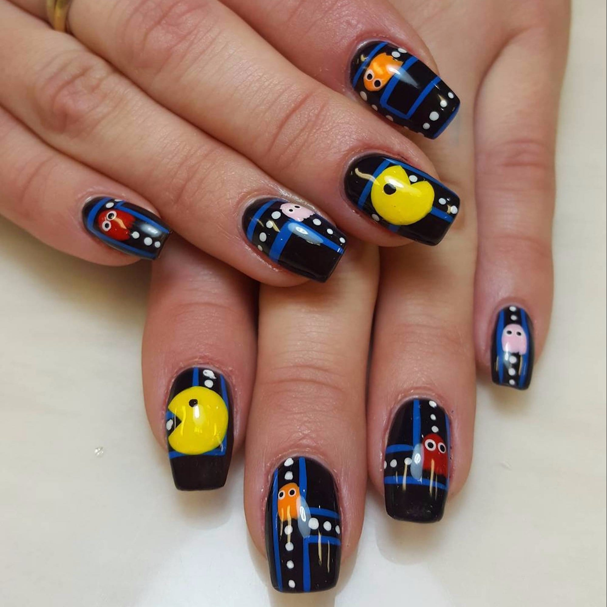 Pac man nail art ideas popsugar beauty prinsesfo Image collections