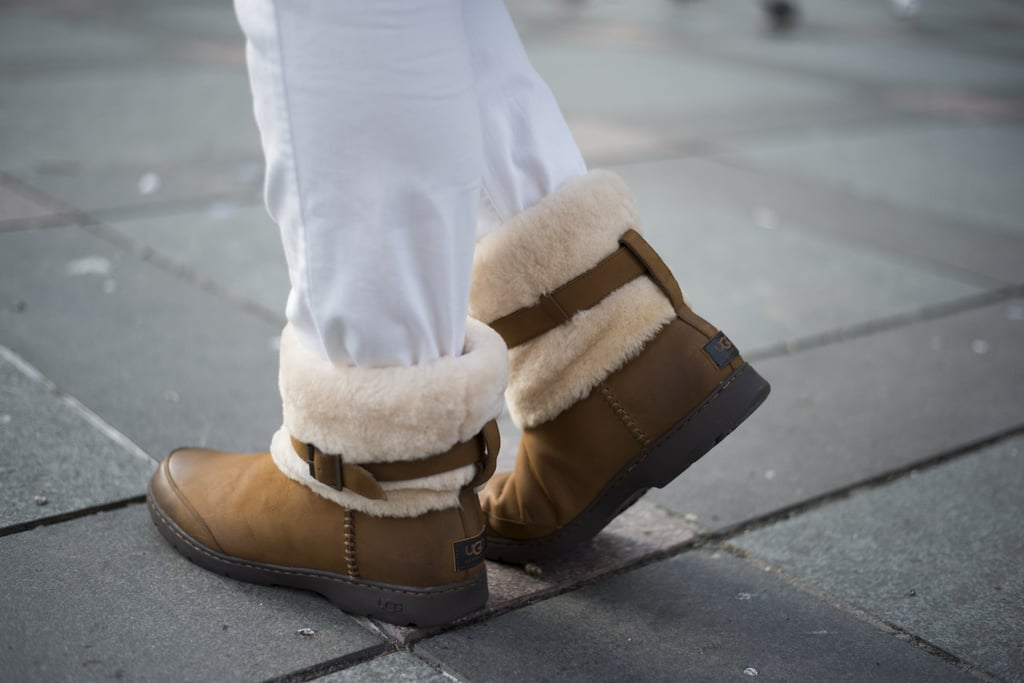 Wear these with lots of white and cream for a look that reads 2016 Snow Bunny (as opposed to 2003 Sorority Girl). The pair I'm wearing has sold out but this pair in women's ($225) and this in men's ($225) are just as cute. Trust me, if I've learned to love Uggs, you can too!