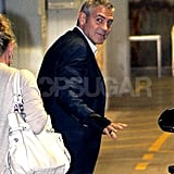 George Clooney was happy to be in Australia.