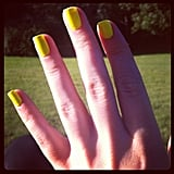 Weekend ed Alison switches her nail polish daily, and it always looks perfect!