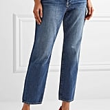 Frame Le Original Cropped High-Rise Straight-Leg Jeans, $410