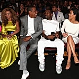 Beyoncé Knowles and Jay-Z sat next to Kanye West and Kim Kardashian at the July BET Awards in LA.