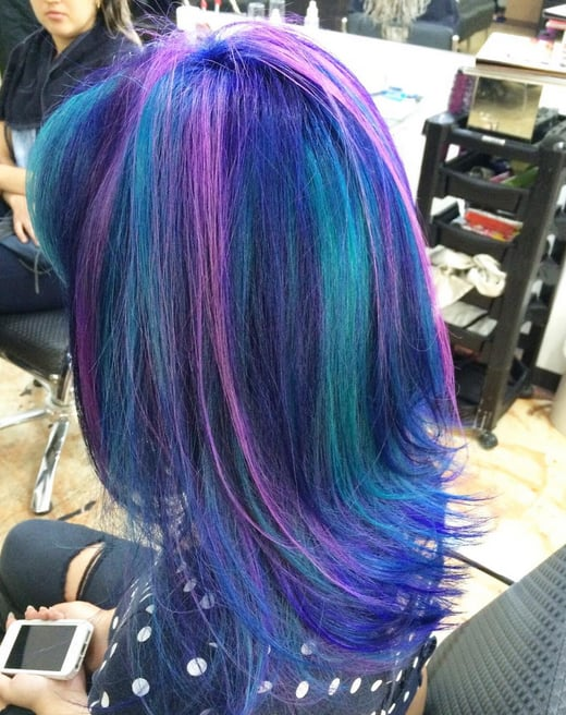 Galaxy Hair Color Ideas Popsugar Beauty Photo 9