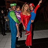 Mariah Carey as a Devil, Nick Cannon as Luigi, Monroe as Rapunzel and Moroccan as Mario