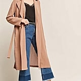 Forever 21 Woven Accordion-Pleat Duster Jacket