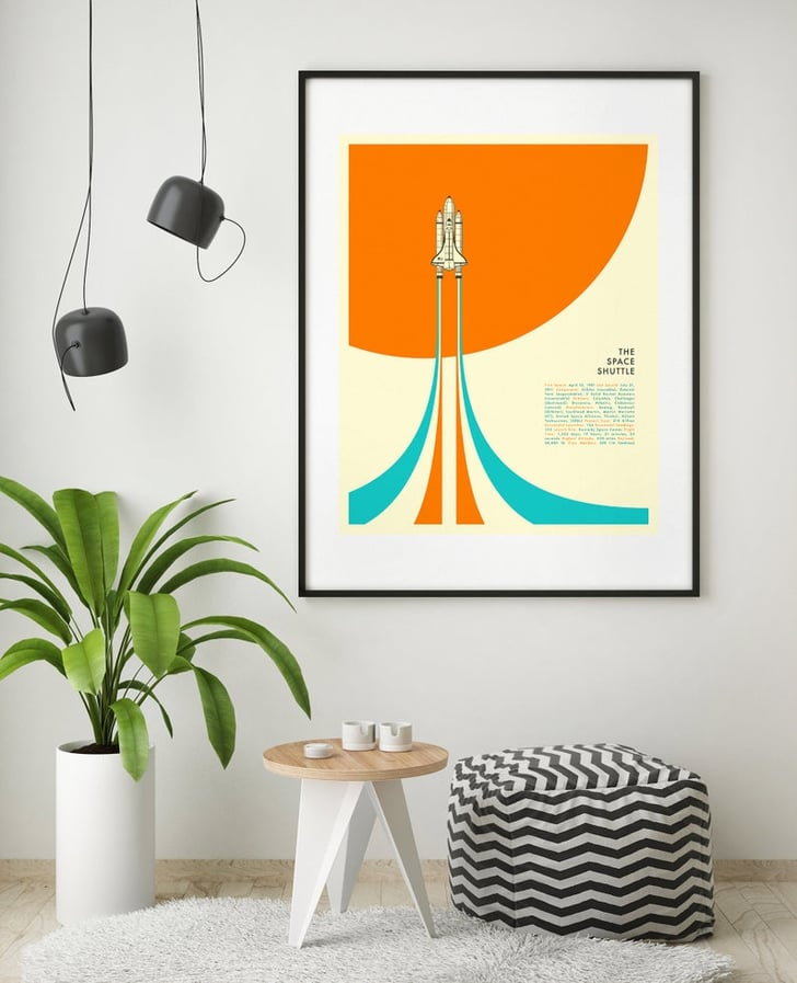 The Space Shuttle Minimal Pop Art Cute Dorm Room Posters