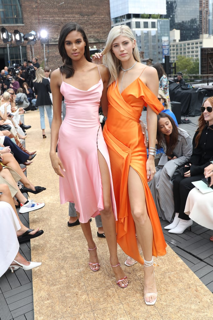 Cindy Bruna and Devon Windsor at the Jonathan Simkhai New York Fashion Week Show