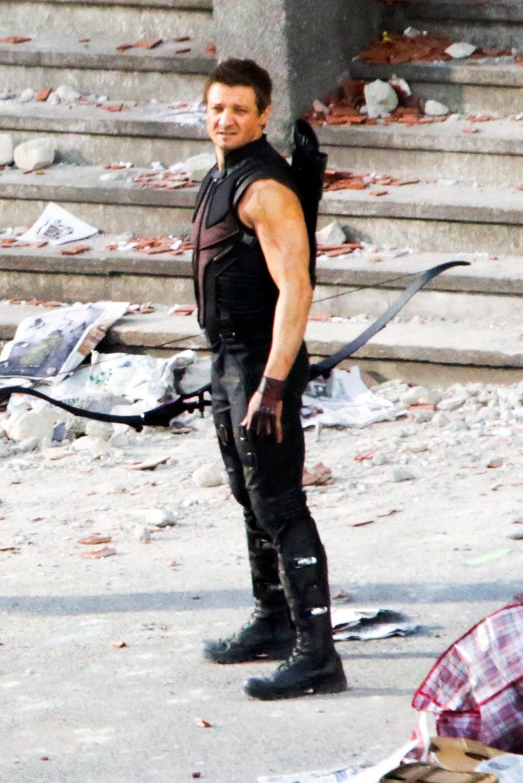 Renner as Hawkeye.