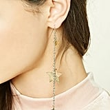 Star Drop Chain Earrings