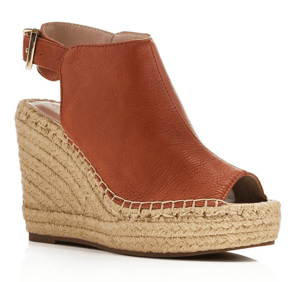 2306a6d9c615 Kenneth Cole Olivia Leather Espadrille Wedge Platform Sandals ( 130 ...