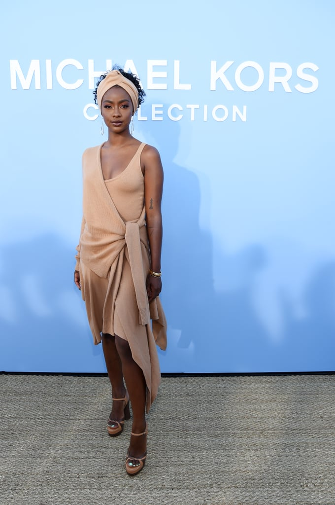 Justine Skye at the Michael Kors Collection New York Fashion Week Show