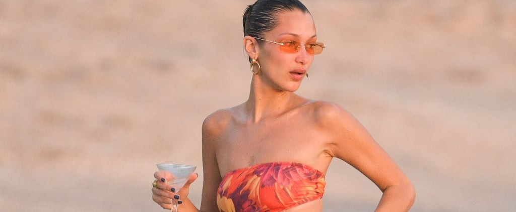 Bella Hadid Wore a Red Cutout Swimsuit in St. Barts
