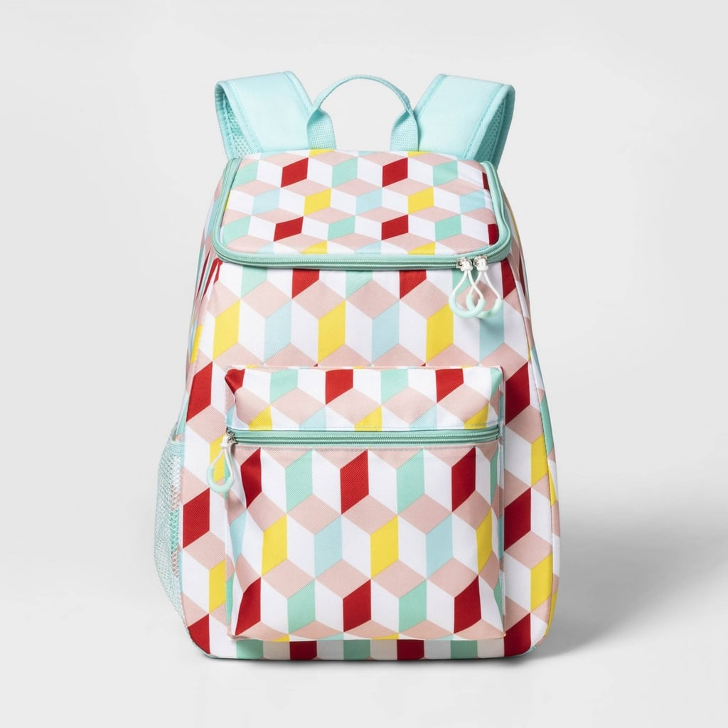 Sun Squad Backpack Cooler in Geo Print