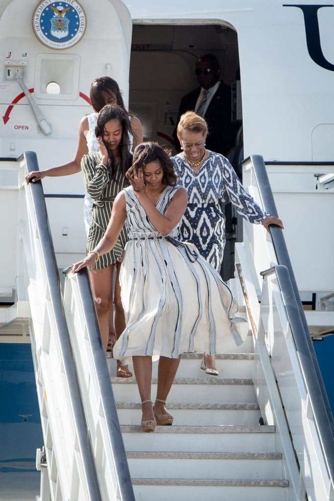 Michelle Obama, Her Daughters, And Her Mother, Marian, All -7300