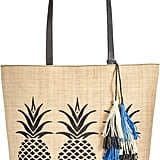 This bag is so pretty, and the tote size is so practical. INC International Concepts Aadi Pineapple Straw Tote, Only at Macy's ($67, originally $90)