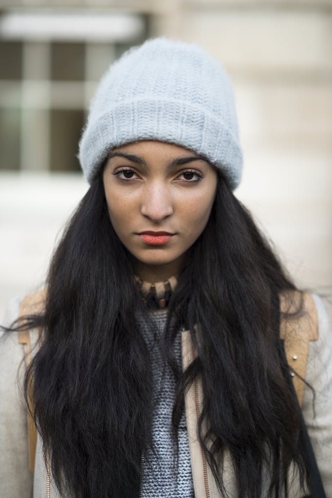 High-on-texture hair and orange lipstick looked oh-so sweet on Desiree Laidler. Source: Le 21ème | Adam Katz Sinding