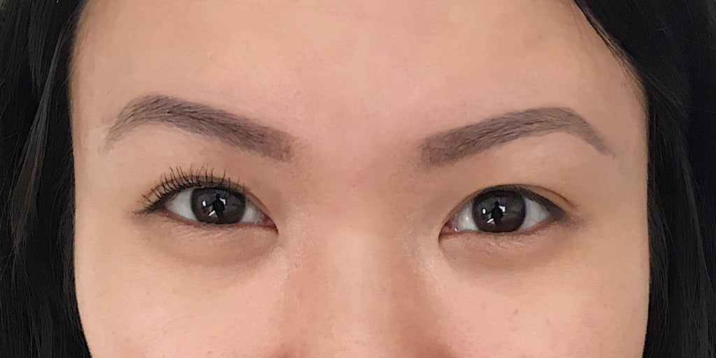 A few coats of Heroine Make Long And Curl Waterproof Mascara on right lashes