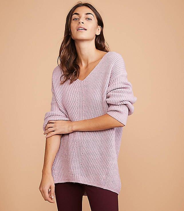 Loft Lou & Grey Chevron Tunic Sweater