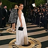 Natalie Portman arrived at the Vanity Fair Oscar party on Sunday night.
