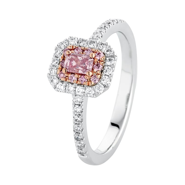 diamond rose engagement rings de gold beers fancy in ring caress with coloured
