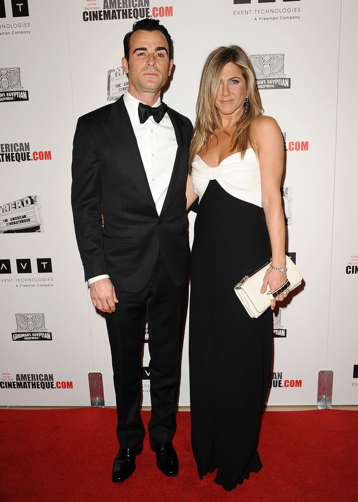 Justin Theroux and Jennifer Aniston attended the American Cinematheque Awards.