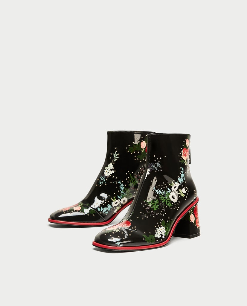 Zara Printed Ankle Boot