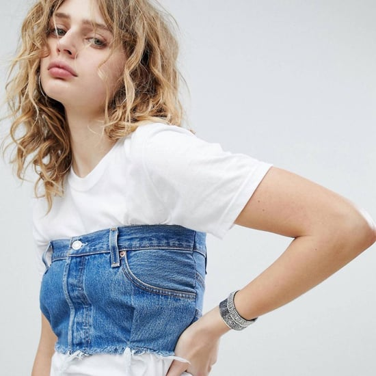 ASOS Denim Bustier T-Shirt