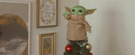 Pictures of Baby Yoda Christmas Tree Toppers