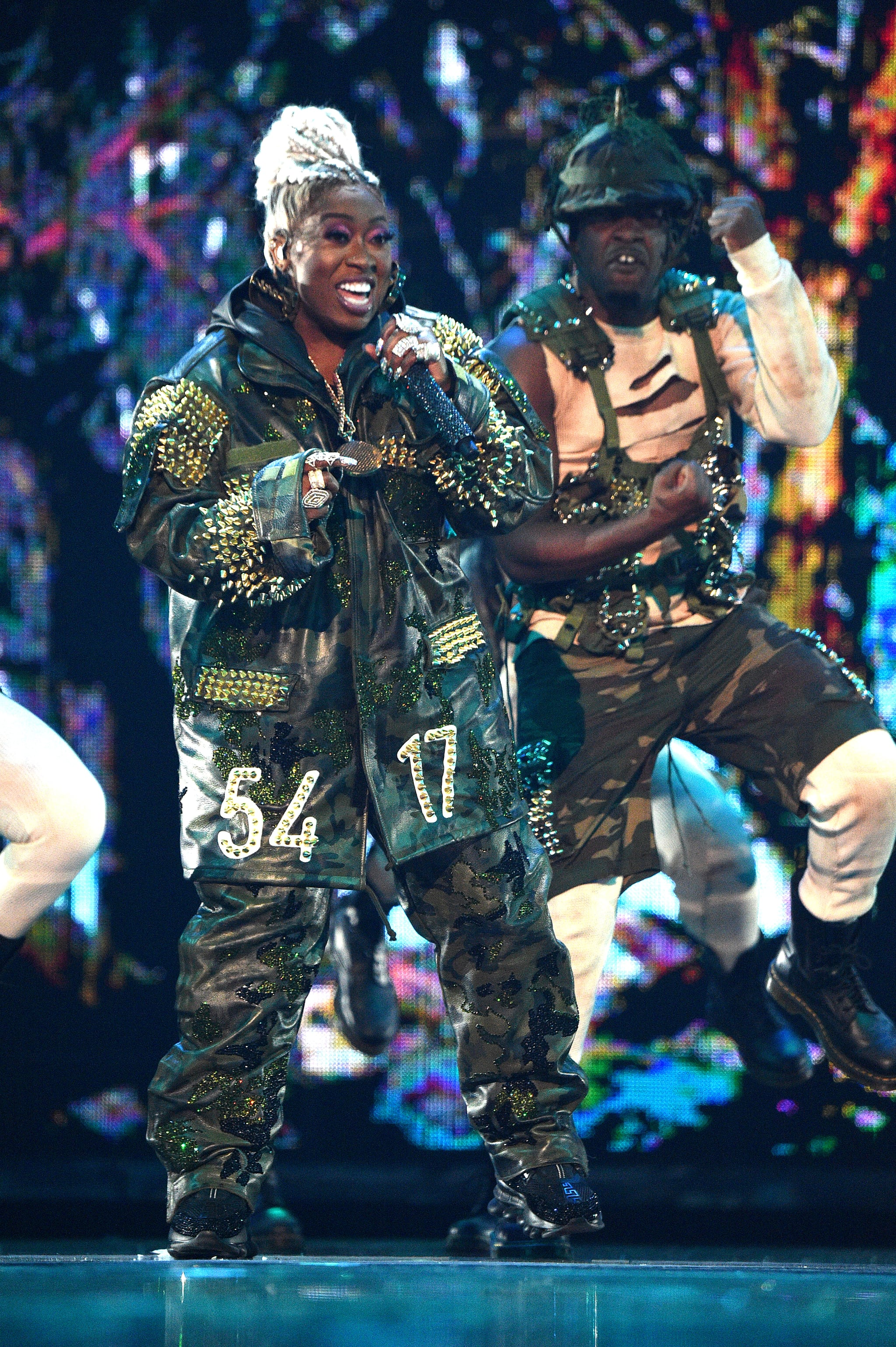 NEWARK, NEW JERSEY - AUGUST 26: Missy Elliott performs onstage during the 2019 MTV Video Music Awards at Prudential Center on August 26, 2019 in Newark, New Jersey. (Photo by Kevin Mazur/WireImage)