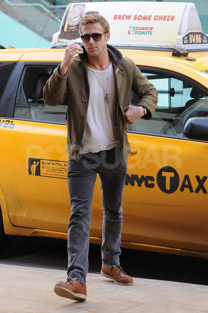 Ryan Gosling wore layers in NYC.