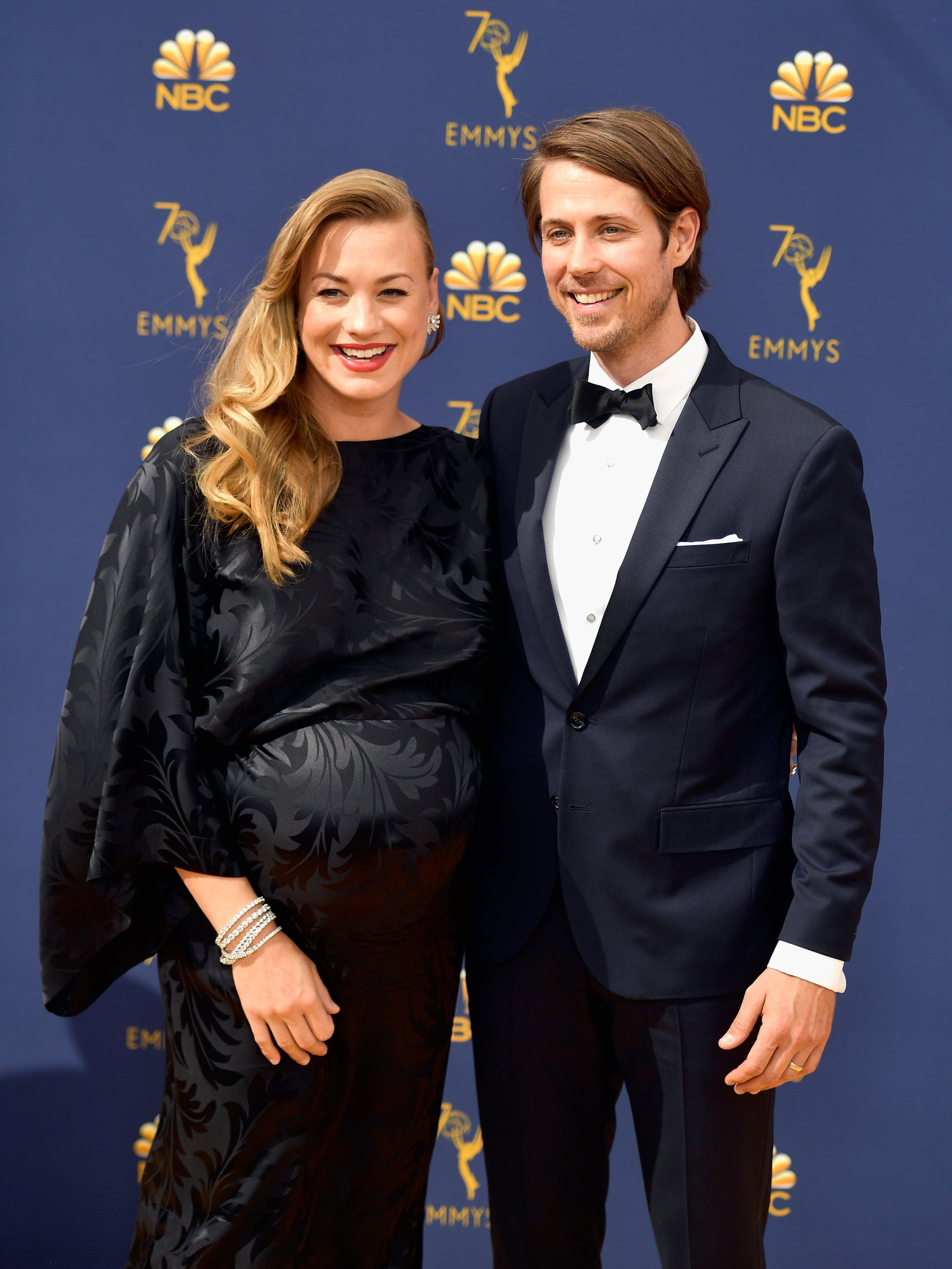 Yvonne Strahovski And Tim Loden These Celebrity Couples Showed Up And Showed Out At The Emmys Popsugar Celebrity Photo 11 The handmaid's tale star revealed that she tied the knot with longtime boyfriend tim loden on the red carpet at the 2017 emmys on stahovski, who has dated loden for more than six years, told e! yvonne strahovski and tim loden these