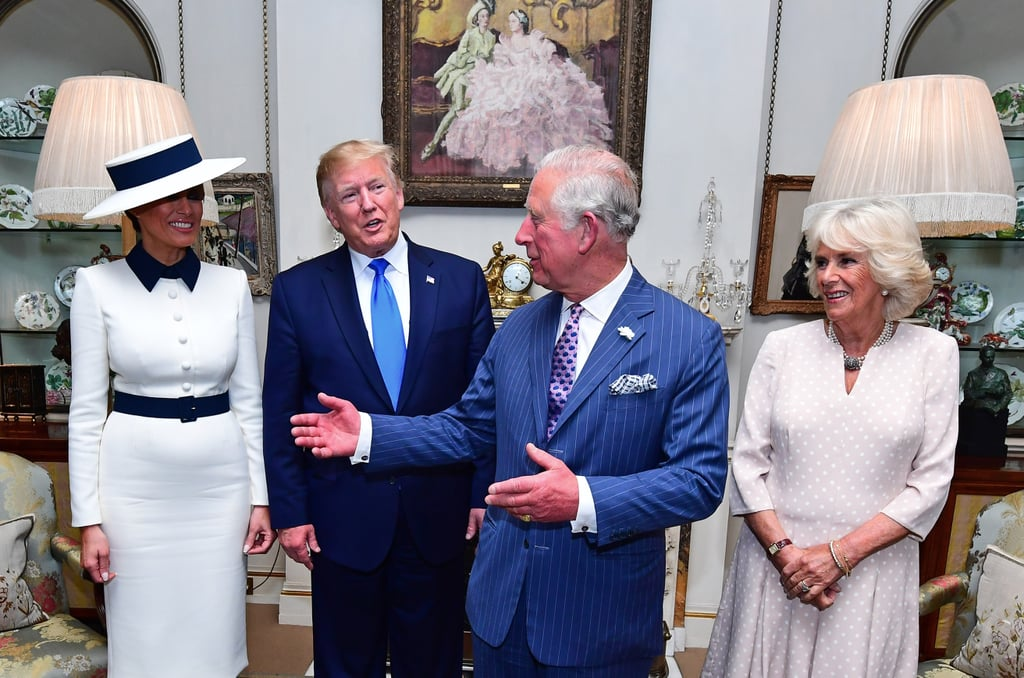 Some Photos of the Royal Family and the Trumps in the UK