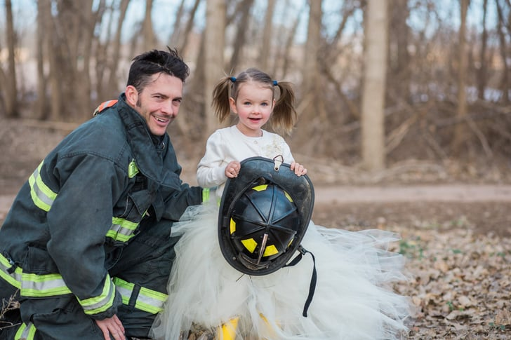Father And Daughter Firefighter Photo Shoot Popsugar